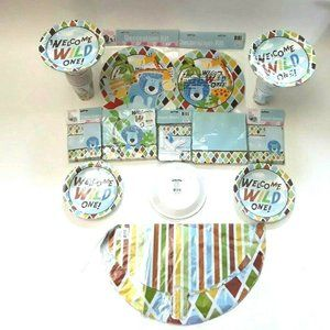 Welcome Wild One Decoration Kit Favor Boxes Napkin